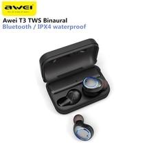 Awei T3 TWS бинауральные bluetooth-наушники IPX4 водонепроницаемые беспроводные наушники-вкладыши стерео наушники с микрофоном и зарядной док-станции
