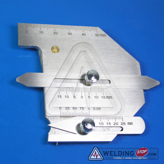 ФОТО HJC-60 Welding Seam gauge Bead Gage Weld pit test ulnar inspection ruler