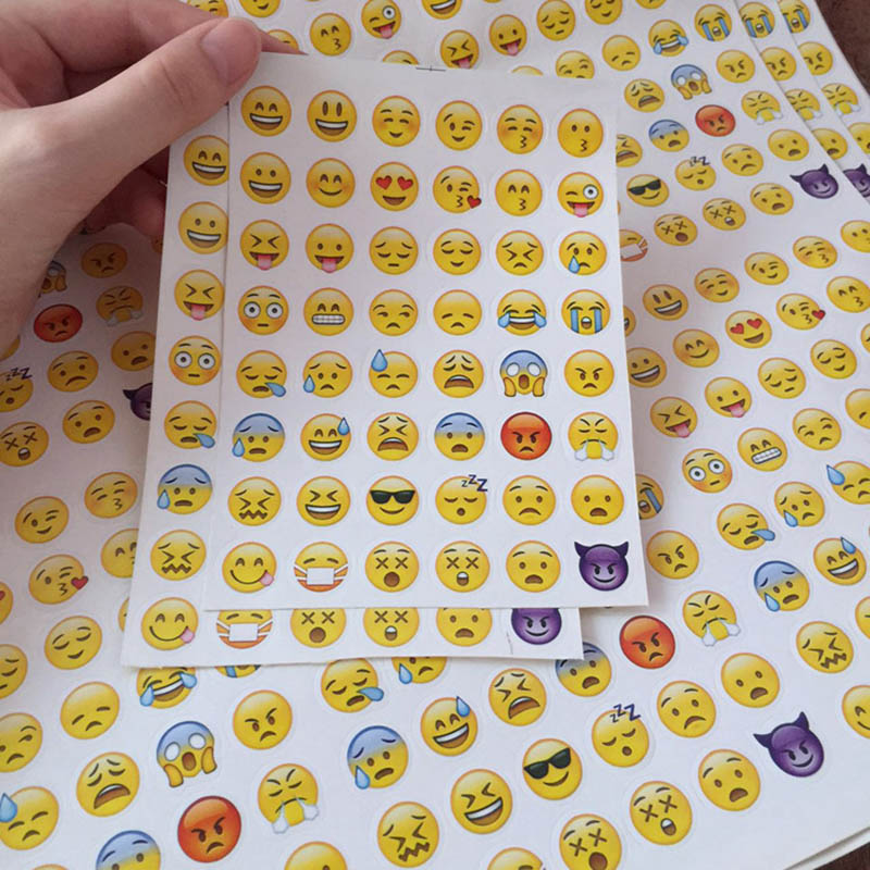 DIY Cute Kawaii Paper Sticker Creative Expression Sticky Paper For Scrapbooking Photo Album Decoration Diary Free Shipping 3321