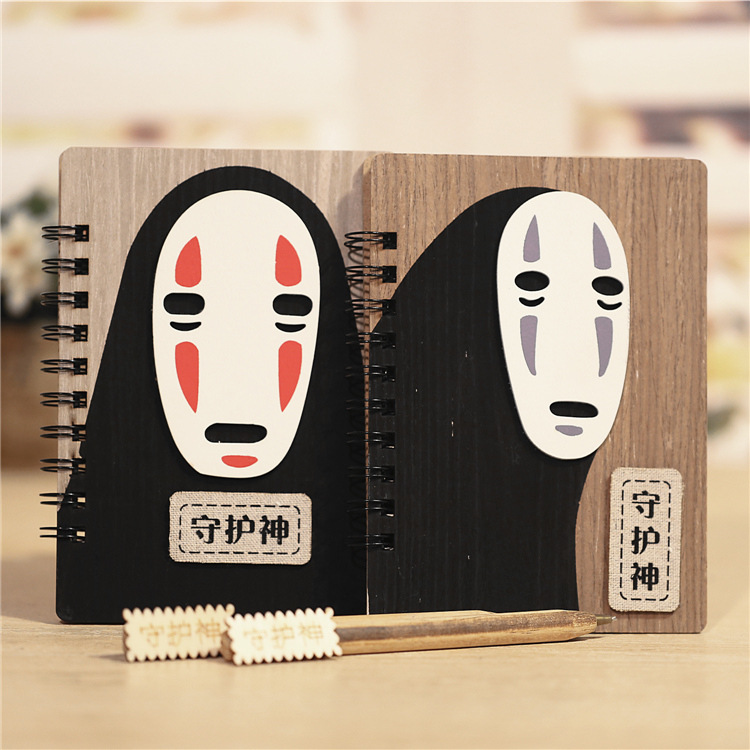 Creative Cute Cartoon Faceless Man Planner Notebook Diary Book Wooden Chinchilla School Supplies Gift 1pc creative cute cartoon animal planner notebook diary book wooden school supplies student gift