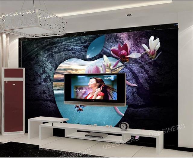 3d wallpaper foto wallpaper benutzerdefinierten wandbild wohnzimmer wand cave apple orchidee 3d malerei tv hintergrundbild fur