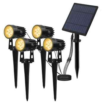 T-SUNRISE 4 PCS LED Solar Light IP65 Waterproof Outdoor Landscape Lamps Auto ON/OFF Solar Wall Lights for Garden Solar Lamp - DISCOUNT ITEM  34% OFF All Category