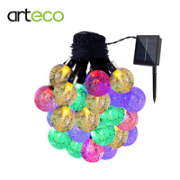 Solar Lamp 6M 30LEDs Crystal Ball Waterproof Outdoor Solar Led String Colorful Warm White Fairy Light