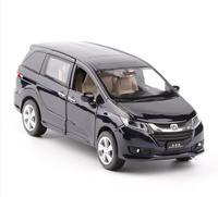 1 32 Alloy Pull Back Toy Car Model High Simulation Honda Odyssey Musical Flashing 6 Open