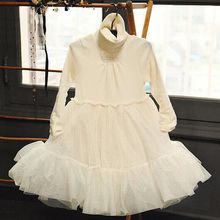 Girls dresses 2016 Autumn Winter Korean style girls clothes Holiday party cuty wear lace girls dress Birthday gifts for girl
