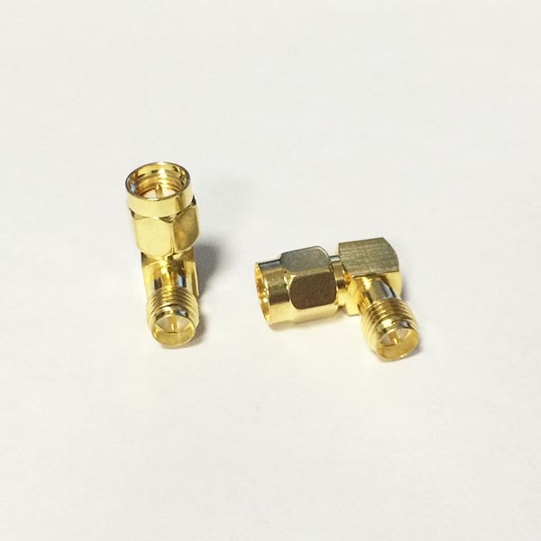 1pc NEW SMA  Male Plug to RP-SMA Female Jack  RF Coax Adapter convertor  Right Angle  Goldplated  wholesale 2pcs lot yt70b rp sma male plug switch sma female jack rf coax adapter convertor connector straight goldplated sell at a loss