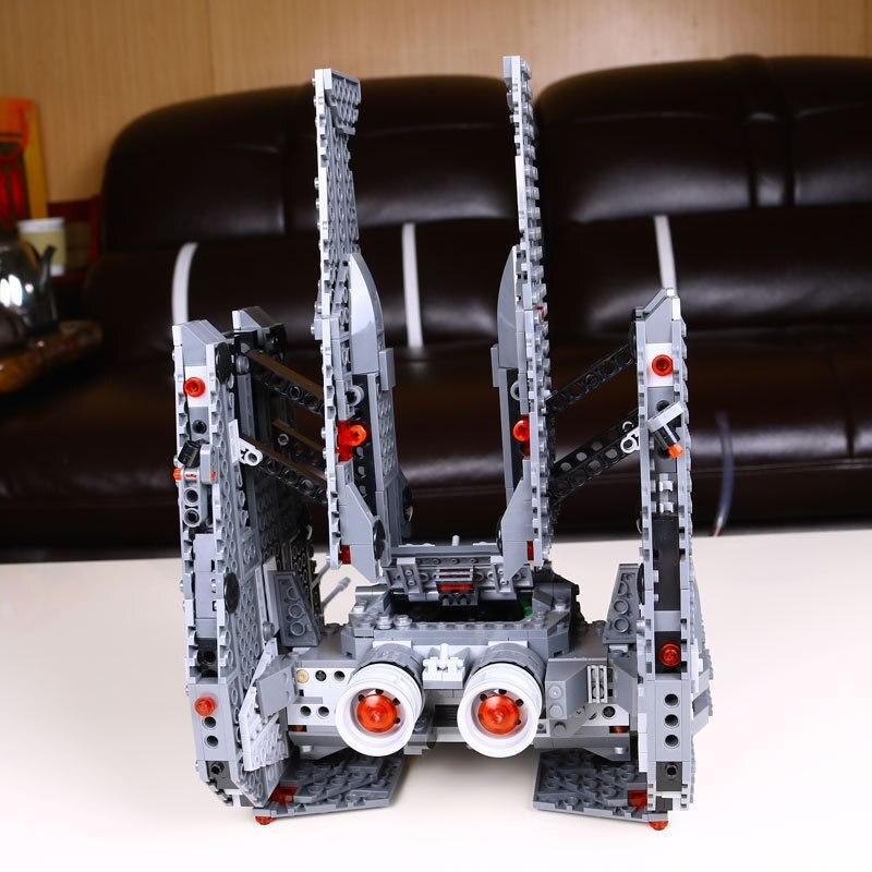 mylb New Star Wars Kylo Ren Command Shuttle leksaker byggstenar undrar block brinquedos Educational toys drop shipping