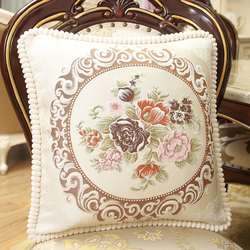 Nordic Style Embroidery Cushion Decorative Pillows Cover Throw Pillows Case Flowers Cushions Cover for Leather sofas 48x48cm