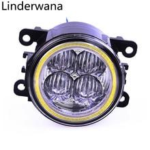 Fog Lamp Assembly angel eyes Fog Light For Mitsubishi Outlander L200 Pajero Grandis Galant 2003-2015 Led Fog Lights 30W 1set
