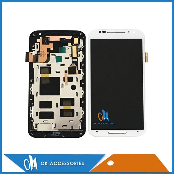 5.2 Black White For Motorola X+1 X2 XT1092 XT1095 XT1097 For Moto X2 LCD Display+Touch Screen Digtizer With Frame