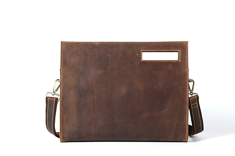 все цены на  Genuine Leather Men Crazy Horse Cowhide Shoulder Handbag Retro Messenger Bags Male Briefcase Men's Travel business Ipad Bag 3048  в интернете