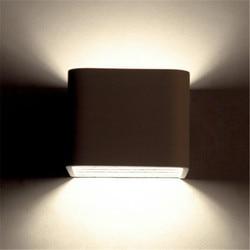 Kreatywny kwadrat nowoczesne oprawy oświetleniowe LED ścienne sypialnia lampki nocne kinkiet Home Decor biały żelaza kinkiety ścienne oświetlenie wewnętrzne