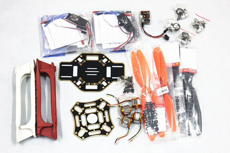 JMT HJ 450 Multicopter 450F nylon Fiber Frame Airframe +QQ SUPER Flight Control board+1000KV Motor+30A ESC+1045 Propeller y10335 l silver quadrocopter case with t6ehp e transmitter 30a esc a2212 1000kv motor esc board 1045r propeller qq super page 8
