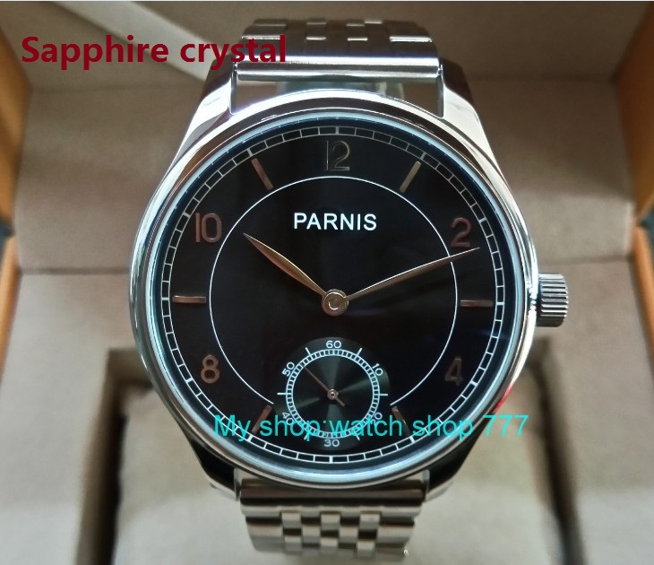 44mm parnis watch gray dial Sapphire crystal sample watch watch crystal