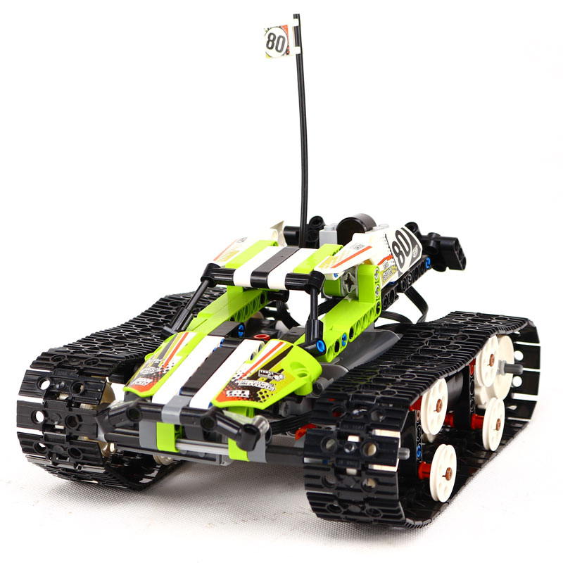 Compatible Technic 42065 Lepin 20033 397pcs RC Track Remote-control Race Car building blocks Bricks toys for children