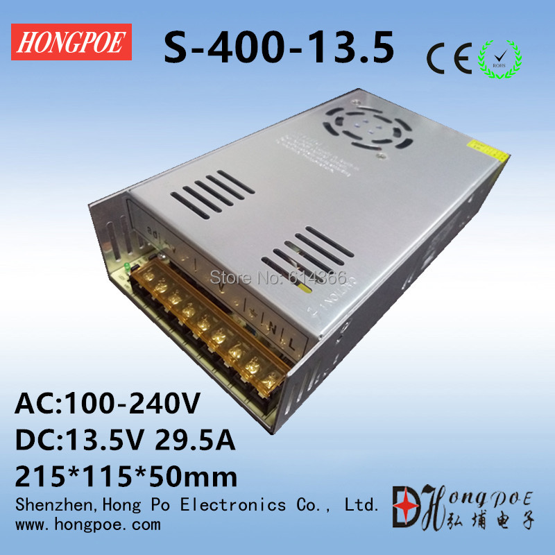 Best quality 13.5V 29.5A 400W Switching Power Supply Driver for CCTV camera LED Strip AC 100-240V Input to DC13.5V free shipping best quality 36v 3 3a 120w switching power supply driver for led strip ac 100 240v input to dc 36v free shipping