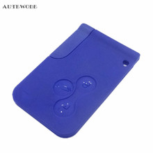 AUTEWODE For Renault Remote Car Key Shell For Renault Megane 2 3 Clio Grand Case Cover 3 Buttons Auto Key Smart Card With Blade