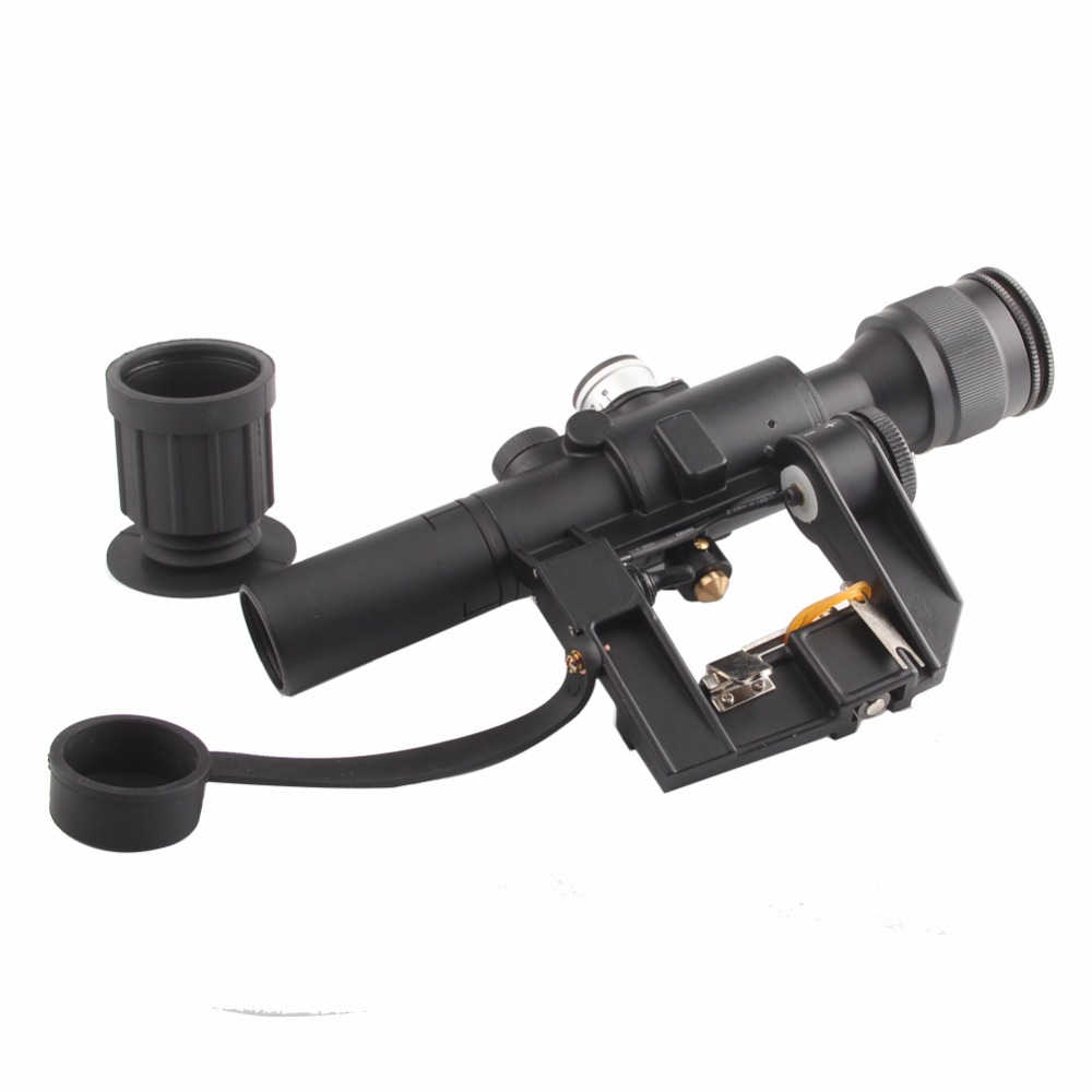Tactique 4x26 rouge illuminé vue SVD Dragunov portée optique vue pour chasse tir lunette de visée RL6-0012