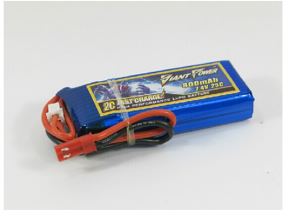 <font><b>7.4V</b></font>/<font><b>800mAH</b></font> 25C Li-po <font><b>battery</b></font> for rc airplane/helicopter image
