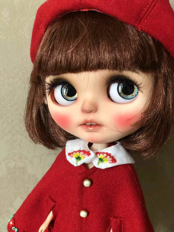 2019 1 комплект Blyth кукла красное пальто набор + шляпа набор для 1/6 blyth кукла BJD