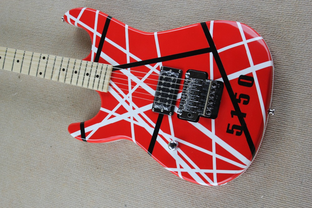 2018 New Factory Left Handed Kram EVH 5150 Electric Guitar Eddie Van Halen Lefty Free Shipping In From Sports Entertainment