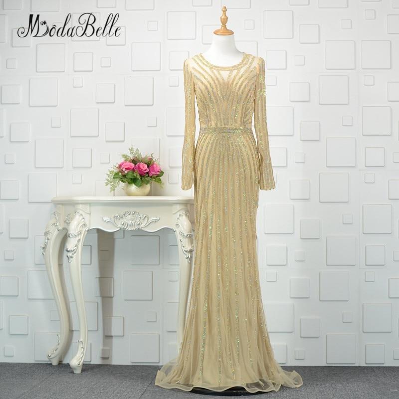 modabelle Ντουμπάι χρυσό φόρεμα με μακρύ - Ειδικές φορέματα περίπτωσης - Φωτογραφία 1