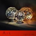 КОВЧЕГ СВЕТ НОВЫЙ ДИЗАЙН Dia20cm Тень Хром Зеркало Свет E27 лампы СВЕТОДИОДНЫЕ настольные Лампы магия фэнтези 3d фейерверк Стеклянный Шар освещение