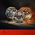 PROJETO NOVA LUZ ARCA Dia20cm Sombra Cromo Espelho de Luz E27 Lâmpada de mesa LEVOU magia fantasia 3d fogos de artifício Bola De Vidro iluminação