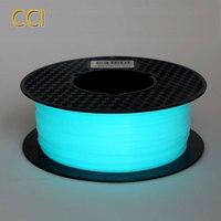 Noctilucous pla 3d プリンタフィラメント noctiucent 1.75 ミリメートル印刷材料 noctilucous 青、緑、紫 1 キロダーク -