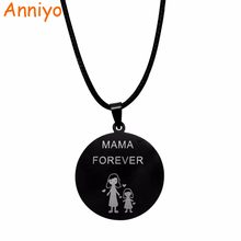 Anniyo Spanish MAMA FOREVER PAPA ABUELA ABUELO TE QUIERO Necklaces for Women Girl Boy Spain Jewelry Best Gifts #012321-5(China)