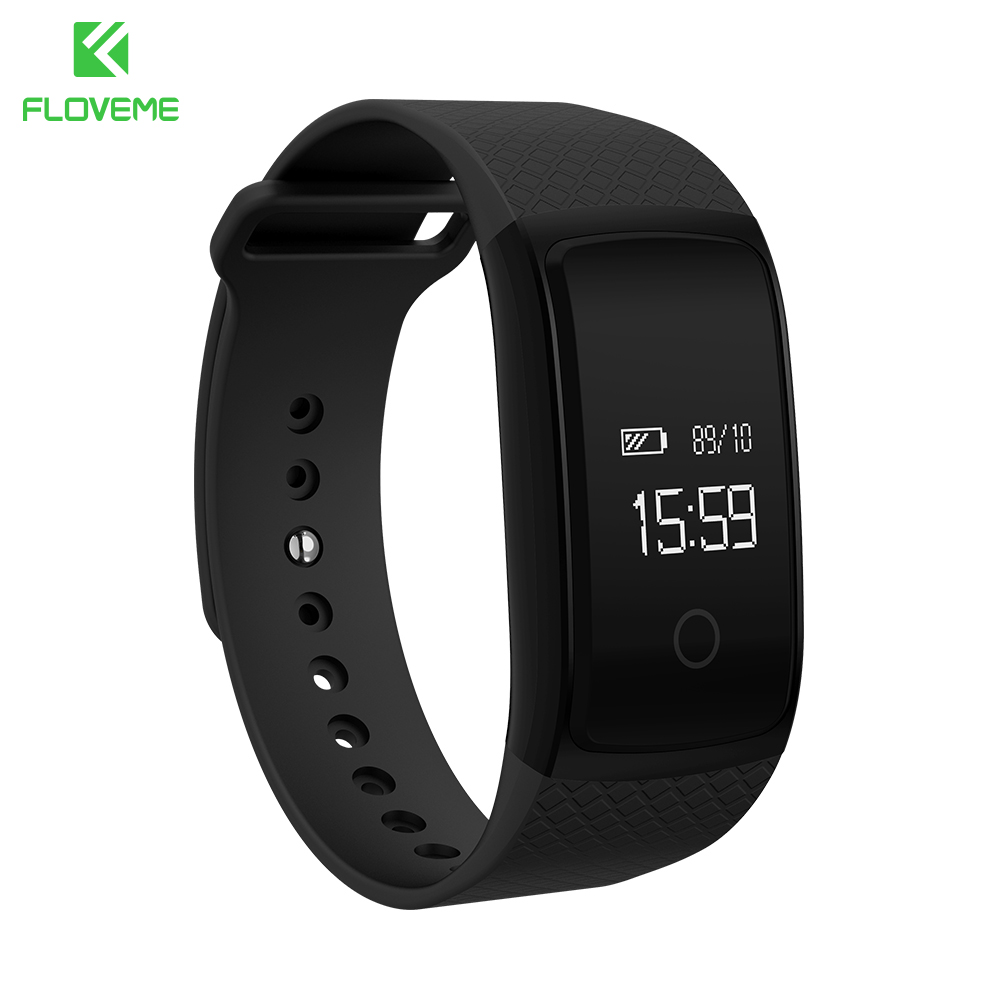 FLOVEME Sports Passometer Smart Wristband Smart Watch For Android iOS Sleep Monitor Smartwatch For iPhone Samsung Wrist Watch mu2 unisex bluetooth wrist watch health sleep monitor for android ios