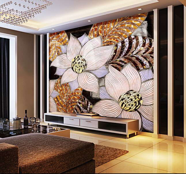 Custom flowers wallpaper 3D, abstract decorative patterns on the living room bedroom TV background wall waterproof wallpaper. custom baby wallpaper snow white and the seven dwarfs bedroom for the children s room mural backdrop stereoscopic 3d