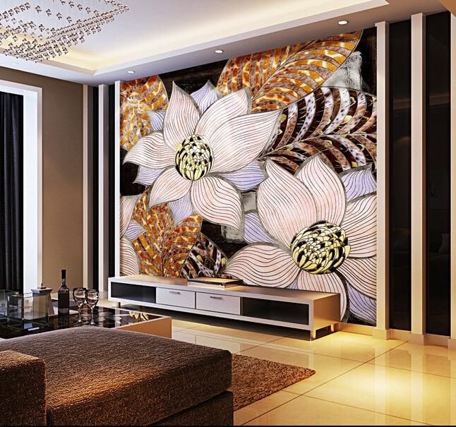 Custom flowers wallpaper 3D, abstract decorative patterns on the living room bedroom TV background wall waterproof wallpaper. blue earth cosmic sky zenith living room ceiling murals 3d wallpaper the living room bedroom study paper 3d wallpaper