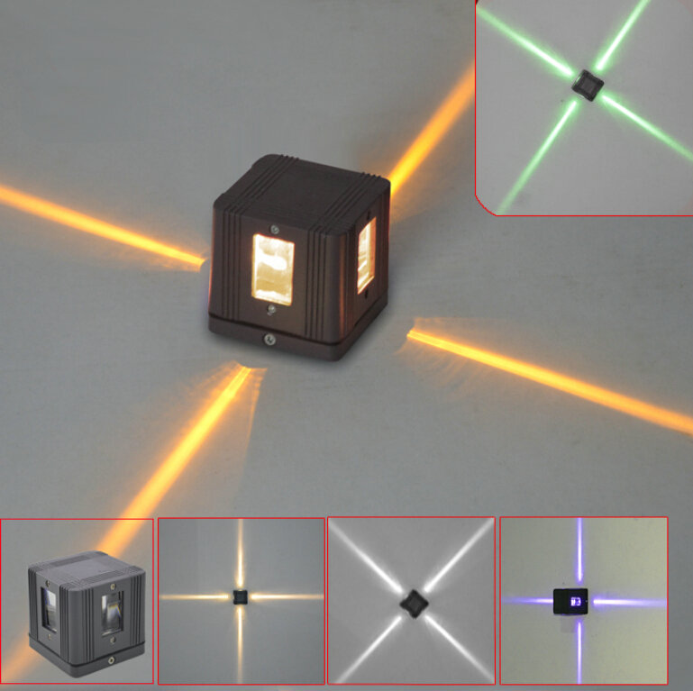 Led Landscape Wall Lights : 3W Cross Star light waterproof led outdoor decoration project wall lamp lighting landscape lamp ...