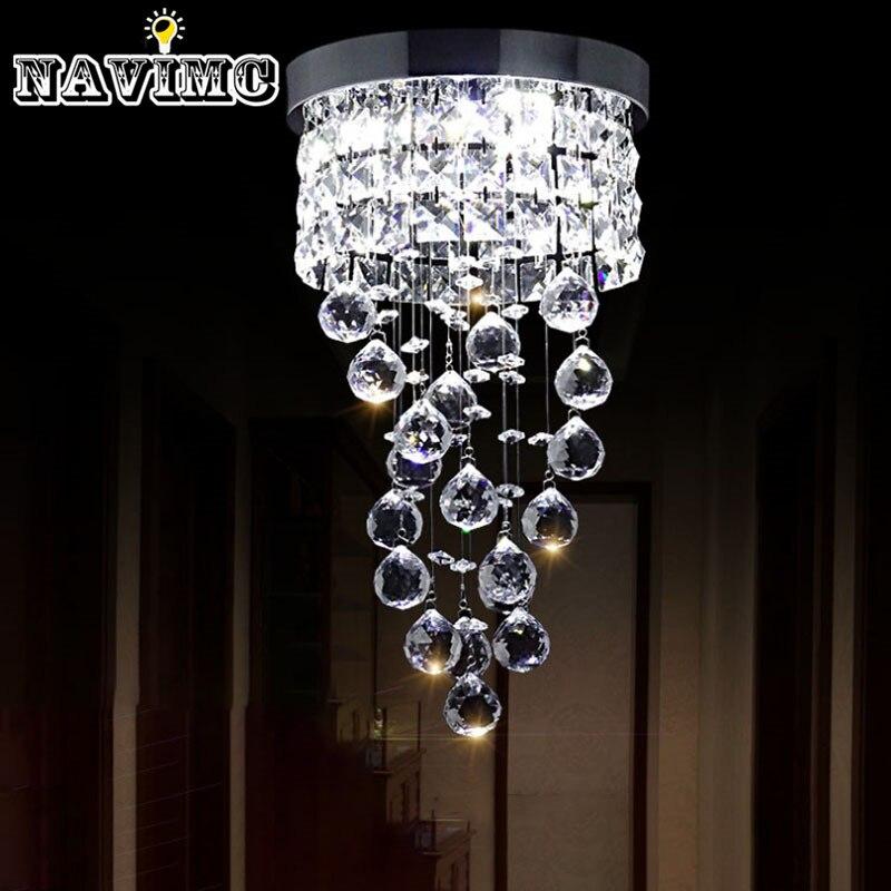 moderne led kleine kristallen kroonluchter verlichting plafondlamp