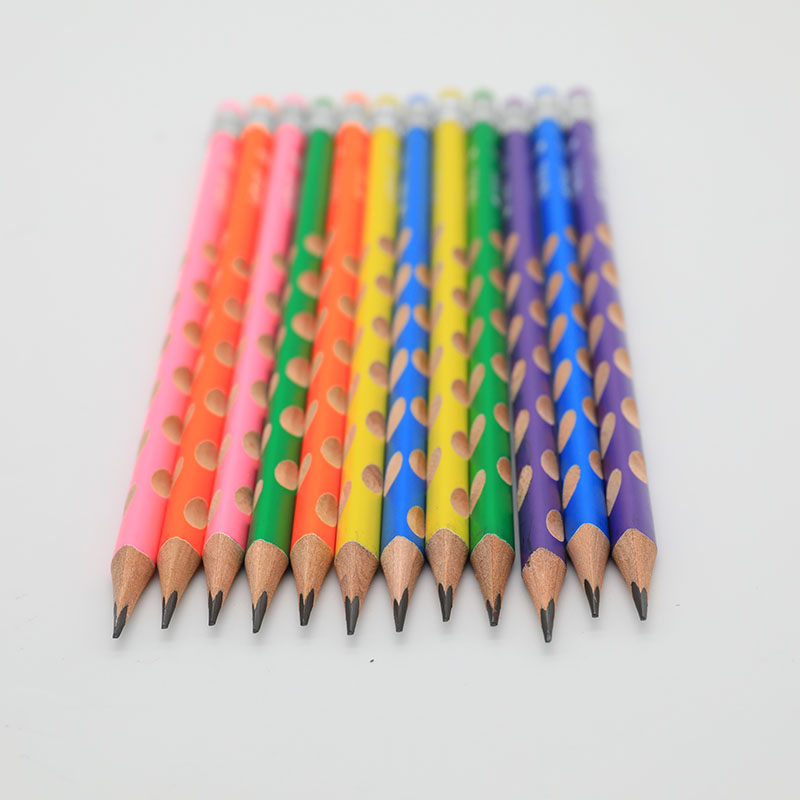 12Pcs Wood Multicolor Pencils Set School Study Items Drawing Stationery 2B Originality Pencils for Children Student 12pcs candy color cute pencil hb 2b school stationery store student kids triangle graphite drawing sketch wood pen office supply