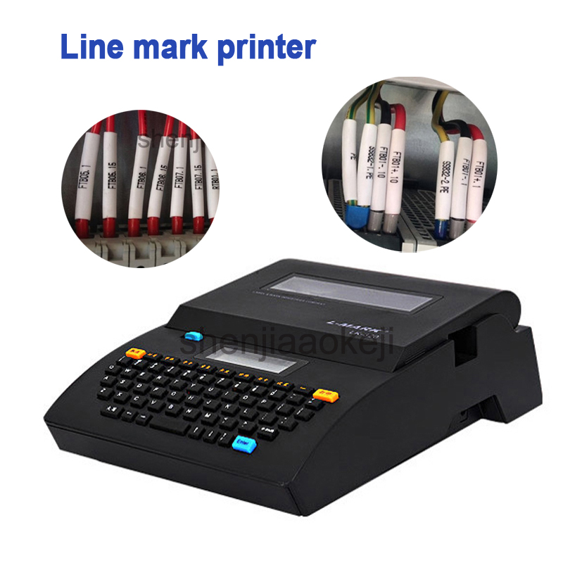Cable ID Printer+Can Connect PC Electronic Lettering Machine PVC Tube Printer Wire Mark Machine LK-320P/LK-320 Line Mark Printer