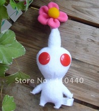 White Nintendo Pikmin Flower Leaf Bud Plush Toy Lovely Gift For Kids Free shipping