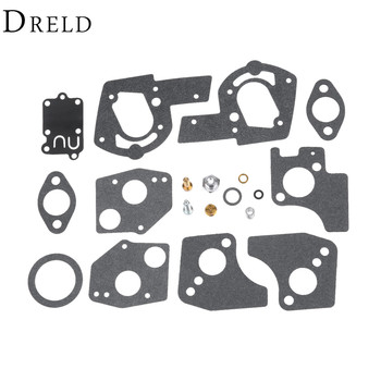 DRELD Replace Carburetor Overhaul Repair Kit Carb Rebuild Kit for Briggs & Stratton 495606 494624 Garden Power Tools turbo repair kit rebuild kits rhf5 8971371098 8972503642 hole distance 80mm turbocharger for isuzu trooper monterey 4jx1t 3 0l