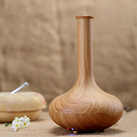 Lagute Dark Light Wood Ultrasonic Essential Oil Diffuser Aroma Humidifier Air Purifier For Home Office Vase