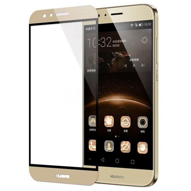 Полностью покрывающее закаленное Стекло для huawei G8 GX8 G7 плюс P Smart mate10 honor P9 Lite mini Экран протектор Защитная пленка