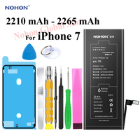 Nohon 2265mAh Battery For Apple iPhone 7 7G iPhone7 i Phone 7 Batteries Replacement Phone Li polymer Bateria +Tools For iPhone 7