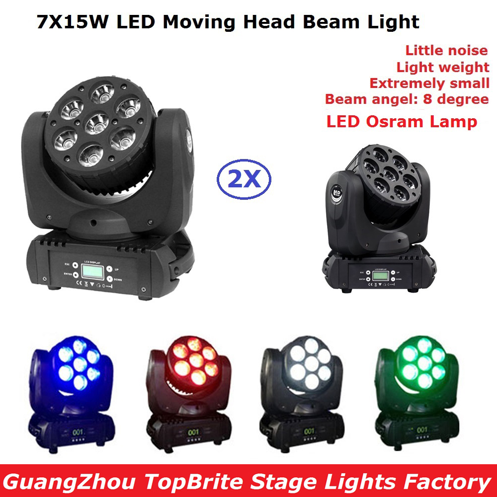 Eyourlife 2 Pack LED Beam Moving Head Wash Light 7X15W RGBW Quad Color With Advanced 9/12/16 Channels DJ Disco Stage Lamp new language leader advanced coursebook with myenglishlab pack