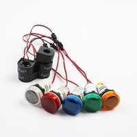 Mini Digital Voltmeter 2in1 22mm AC50-500V 0-100A Amp & Voltmeter Ammeter Voltage Current Meter with CT New