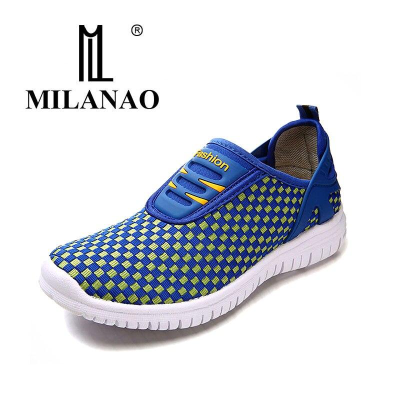 נעלי אור MILANAO 2016 נשים חדשות קיץ נשי רשת לנשימה נעלי ריצה LadyTrainers הליכה חוצות ספורט נוחות