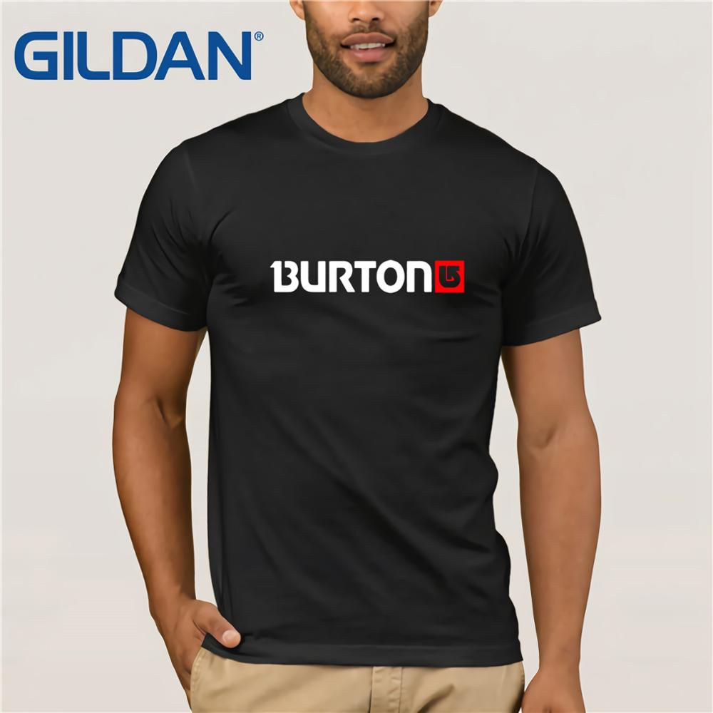 Burton Arrow Logo Snowboards   T     Shirt   Cartoon Tee   Shirt   Homme High Quality Top Tees Men   T     Shirt   2019 Fashion