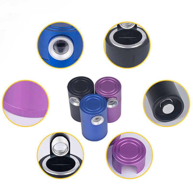 10X מיני תכשיטי מותניים פריזמה כל מתכת יהלומי GIA מגדלת זכוכית פנינה מותניים קוד זיהוי תצפית כלי סגול כחול