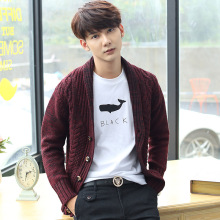 Retro sweater knitting cardigan sweater male men's clothing