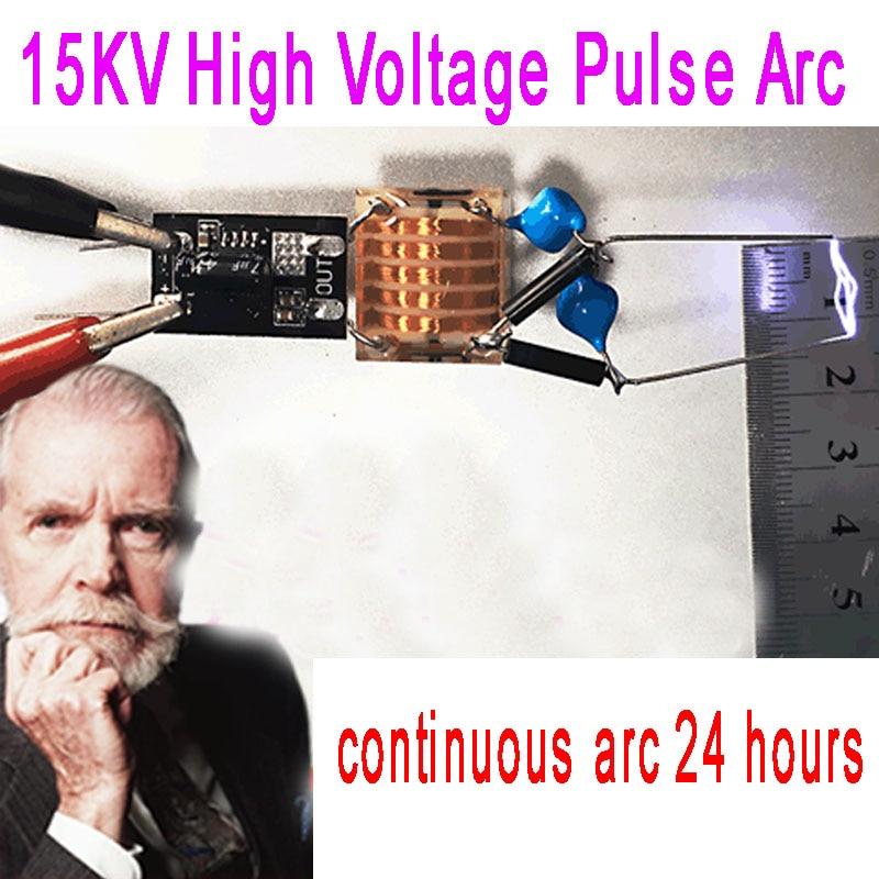 DC5-15V 7.4V to 15KV High Voltage Pulse Generator Super Arc Ignition Boost Coil Module 24 hours Long work lighter