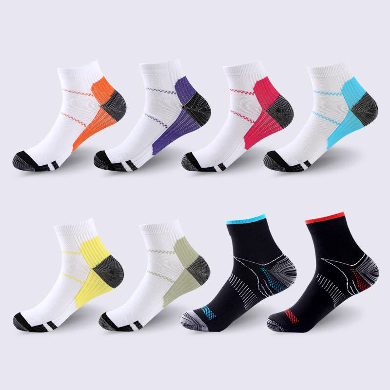 8 Colors 1 Pair High Quality Foot Compression Socks For Plantar Fasciitis Heel Spurs Arch Pain Comfortable Socks Venous New Sock
